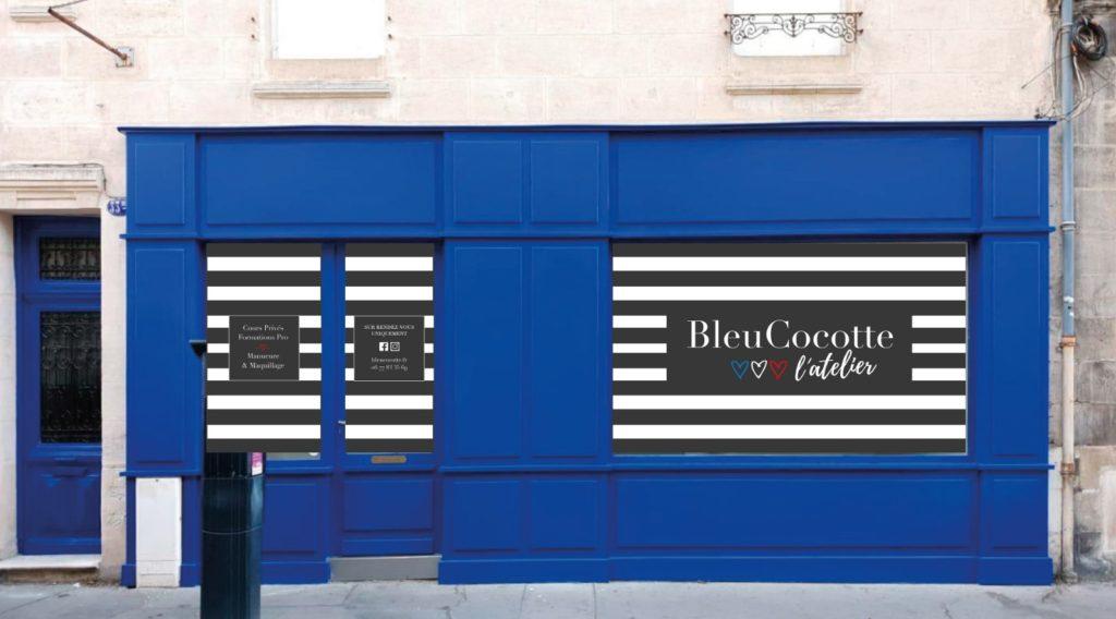devanture de la boutique Bleucocotte