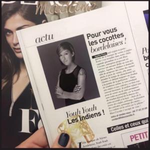 interview d'Agathe Pons alias Bleucocotte, dans le magasine Elle