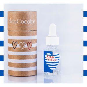 eau émolliente bleucocotte et son packaging